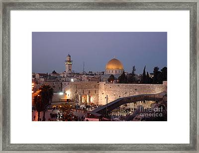 Temple Mount In Israel Series I Framed Print by Doc Braham