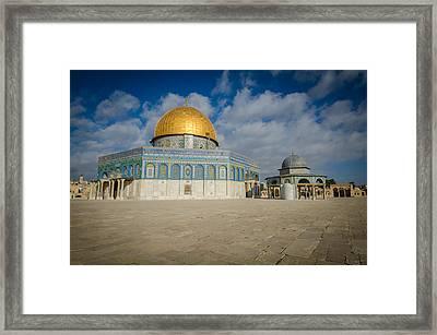 Dome Of The Rock Closeup Framed Print by David Morefield
