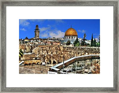 Framed Print featuring the photograph Dome Of The Rock by Doc Braham