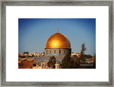 Dome Of The Rock - Painted Framed Print by Doc Braham