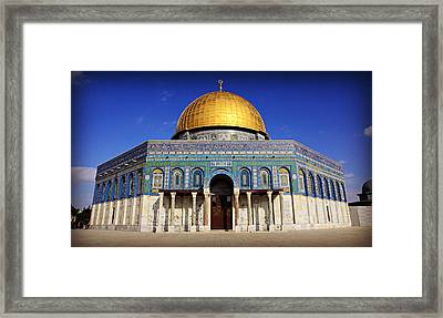 Dome Of The Rock Framed Print by Stephen Stookey