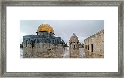 Dome Of The Rock, Temple Mount Haram Framed Print