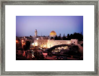 Temple Mount In Israel - Series Iv Framed Print by Doc Braham