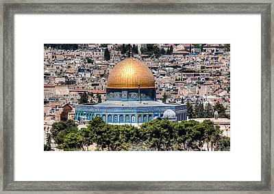 Framed Print featuring the photograph Dome Of The Rock by Uri Baruch
