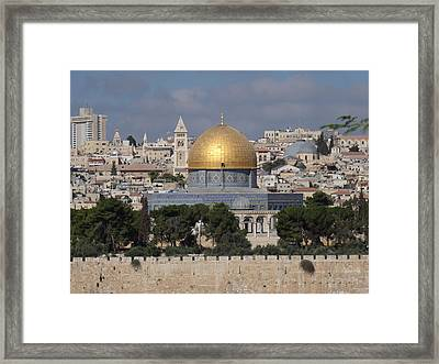 Dome On The Rock  Framed Print