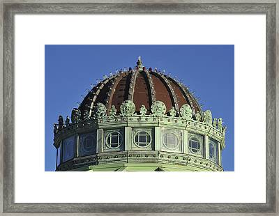Dome Top Of Carousel House Asbury Park Nj Framed Print by Terry DeLuco
