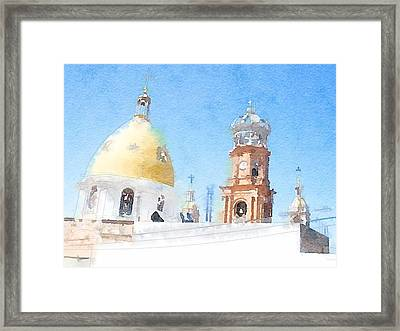 Dome Framed Print by Zak Mil