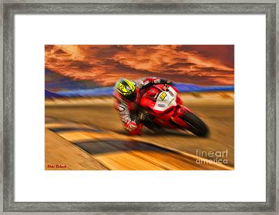Domenic Caluori At Speed Framed Print