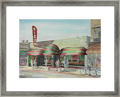 Domenicos In Long Beach Framed Print by Debbie Lewis