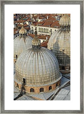 Domes Of The San Marco Basilica Framed Print