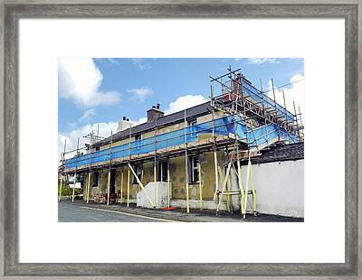 Domestic External Wall Insulation Framed Print by Cordelia Molloy