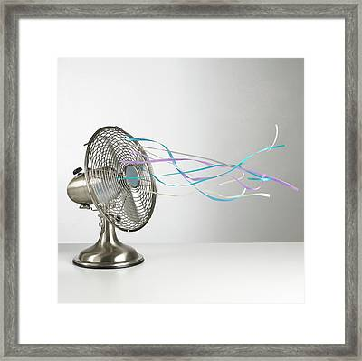 Domestic Fan Showing Air Movement Framed Print