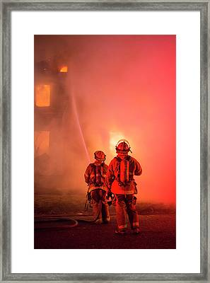 Domestic Fire Framed Print by Jim West