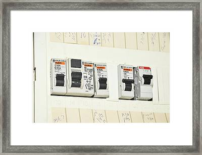 Domestic Fuse Box Framed Print by Photostock-israel