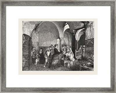 Domestic Life In The East Visit Of European Ladies Framed Print by Tunisian School