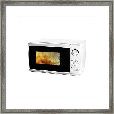 Domestic Microwave Oven Framed Print by Science Photo Library