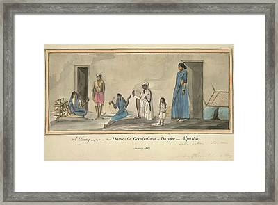 Domestic Occupations Framed Print by British Library
