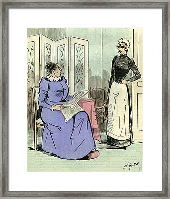 Domestic Servant 1891 Paris France Framed Print by French School