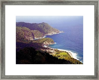 Dominica Coast Line Framed Print