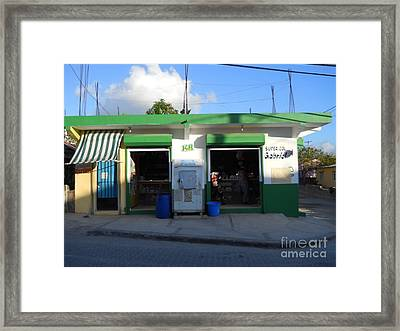 Dominican Grocery Framed Print by Robert Aiken