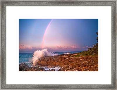 Dominican Rainbow Framed Print