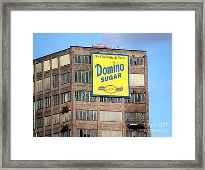 Domino Framed Print by Ed Weidman