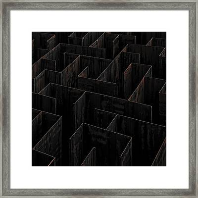 Domino Labyrinth Framed Print