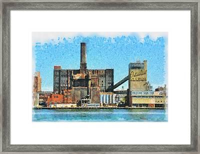 Domino Sugar New York Framed Print