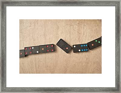 Dominoes Framed Print by Tom Gowanlock