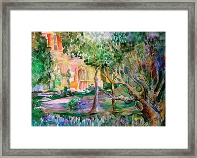 Domus Pacis Framed Print by Mindy Newman