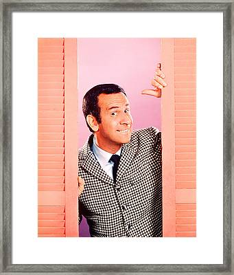 Don Adams In Get Smart  Framed Print by Silver Screen