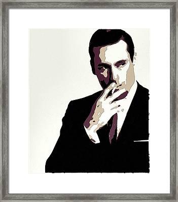 Don Draper Poster Art Framed Print