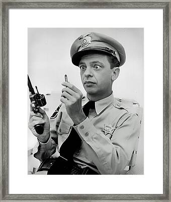 Barney Fife - Don Knotts Framed Print by Mountain Dreams
