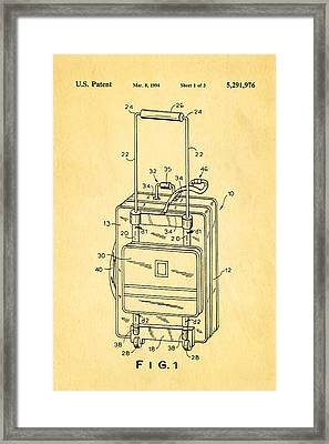 Don Ku Wheeled Collapsible Luggage Patent Art 1994 Framed Print