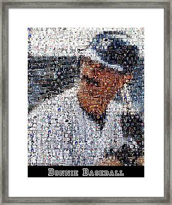 Don Mattingly Yankees Mosaic Framed Print