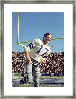 Don Meredith Warms Up Framed Print