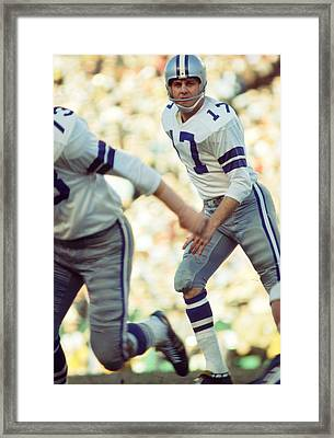 Don Meredith Watches Play  Framed Print by Retro Images Archive