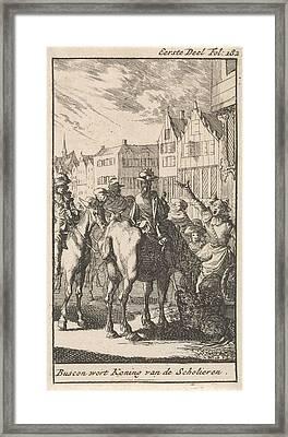 Don Pablo Buscon On A Horse, Jan Luyken Framed Print by Jan Luyken