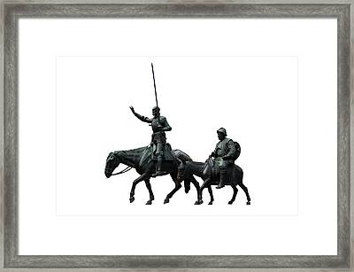 Don Quixote And Sancho Panza  Framed Print by Fabrizio Troiani