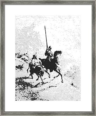 Don Quixote And Sancho Panza Framed Print by