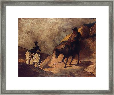 Don Quixote And Sancho Panza Framed Print by Mountain Dreams