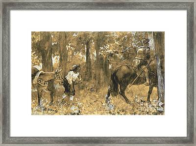 Don Quixote Y Sancho Panza Framed Print by Pg Reproductions