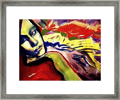 Framed Print featuring the painting Don T Look Back by Helena Wierzbicki