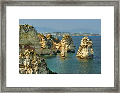 Dona Ana Coast In Lagos Framed Print by Guido Montanes Castillo