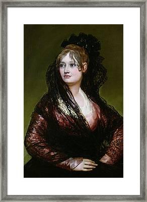 Dona Isabel De Porcel Framed Print by Francisco Jose de Goya y Lucientes