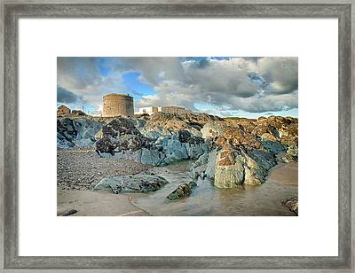 Donabate Martello Tower Framed Print by Martina Fagan