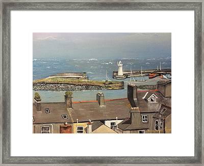 Framed Print featuring the painting Donaghadee Ireland Irish Sea by Brenda Brown