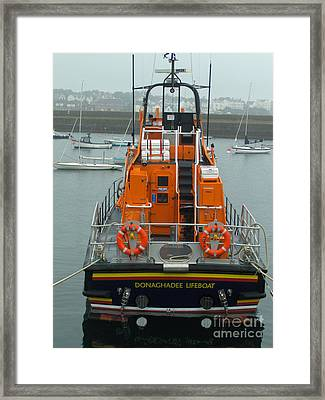 Donaghadee Rescue Lifeboat Framed Print by Brenda Brown