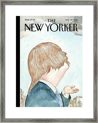 Donald's Rainy Days Framed Print