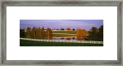 Donamire Farm Ky Framed Print by Panoramic Images